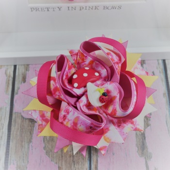 Princess Bow - Woodland Wonder ~ On Croc Clip