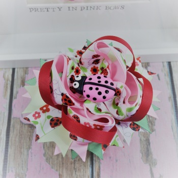Princess Bow - Its A Lady Bugs Life ~ On Croc Clip