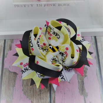 Princess Bow - Cute As Can Bee ~ On Croc Clip