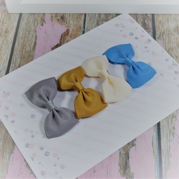 Minnie Bow Starter Set - French Blue, Cream, Gold, Grey