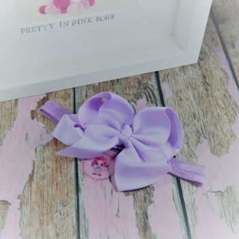 "Baby Band - Lilac ~ 4"" Boutique Bow"