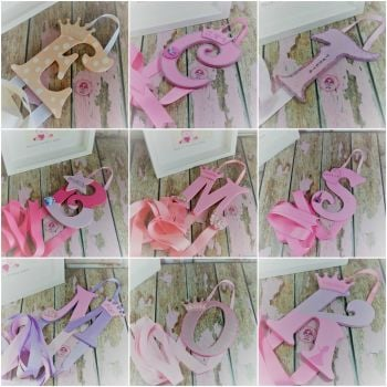 Single Letter Bow Holder
