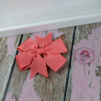 Double Loop Plain Pinwheel - Watermelon ~ On Croc Clip