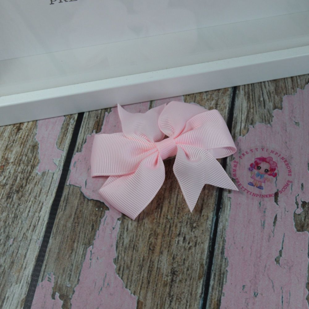 Double Loop Pinwheels ~ Powder Pink - On Crocs