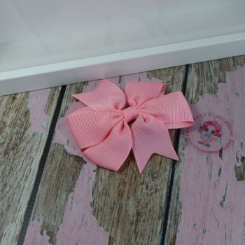 Double Loop Pinwheels - Pink ~ On Croc Clip