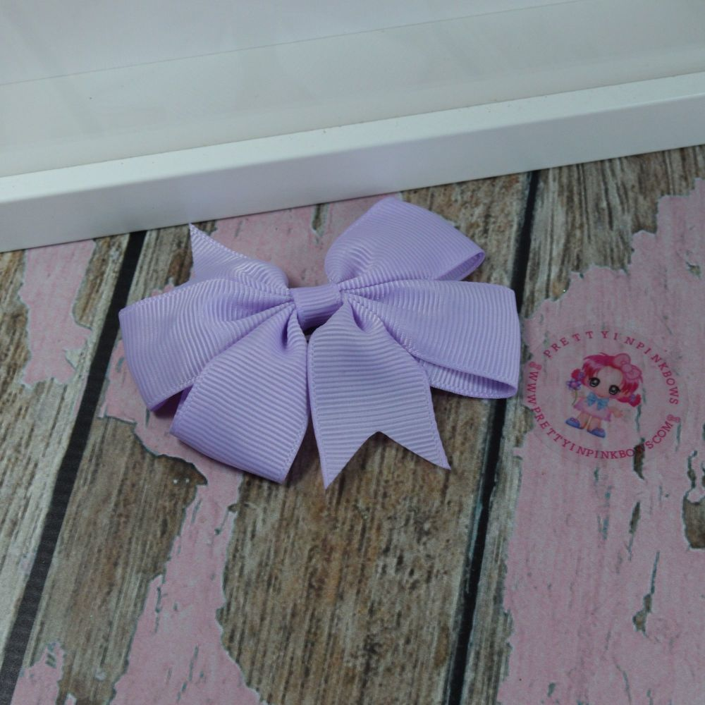 Double Loop Pinwheels - Light Orchid ~ On Croc Clip