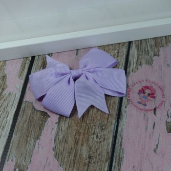 Double Loop Pinwheels - Light Orchid ~ On Croc Clip