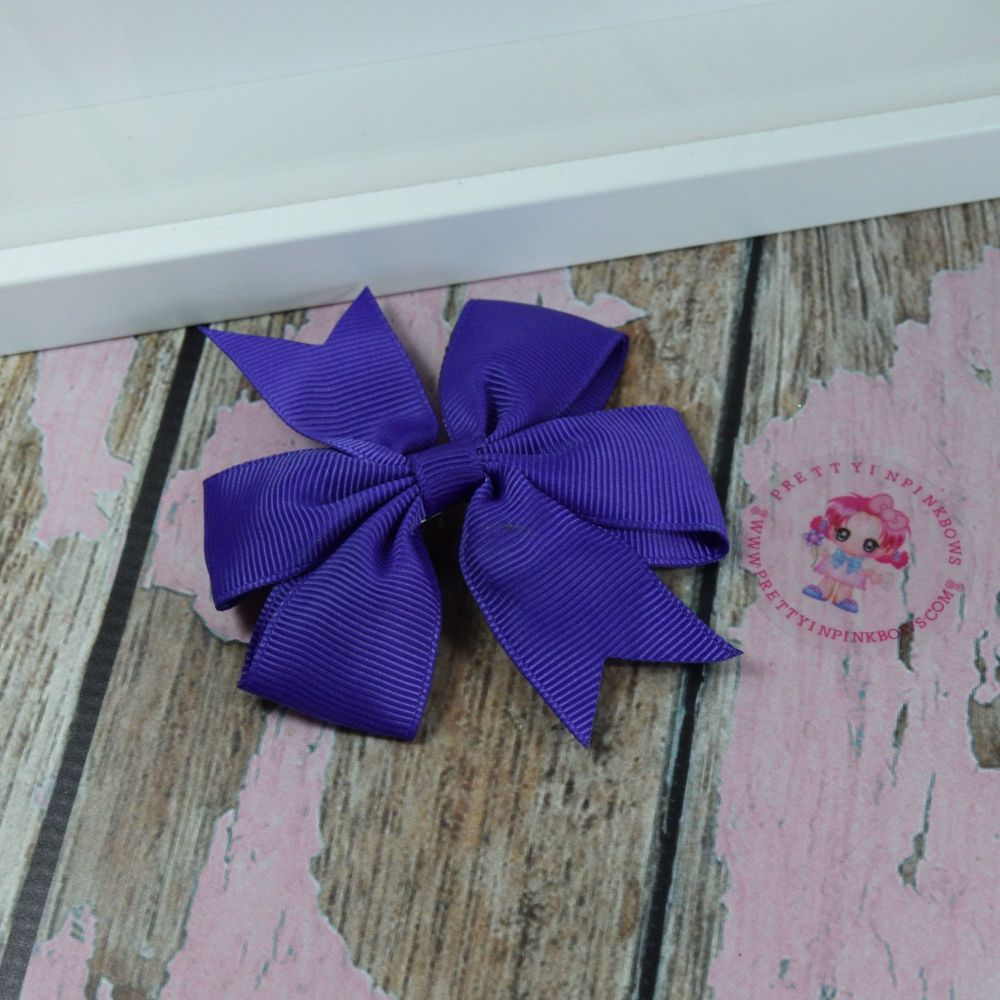Double Loop Pinwheels - Regal Purple ~ On Croc Clip