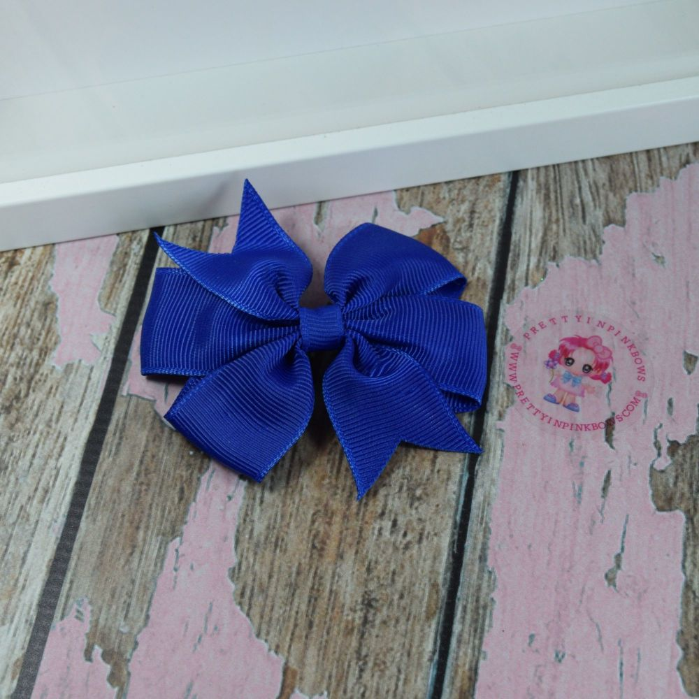 Double Loop Pinwheels - Cobait Blue ~ On Croc Clip