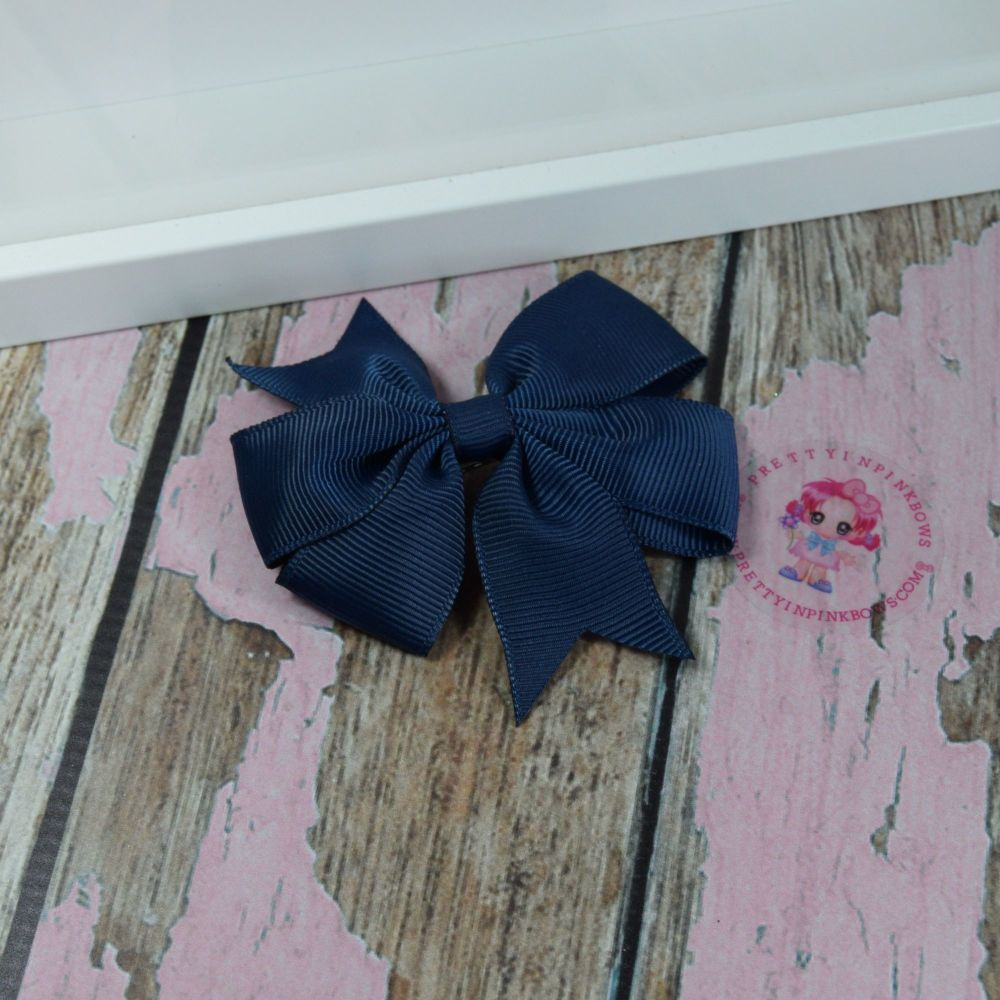 Double Loop Pinwheels - Navy ~ On Croc Clip