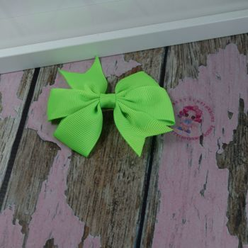 Double Loop Pinwheels - Acid Green ~ On Croc Clip