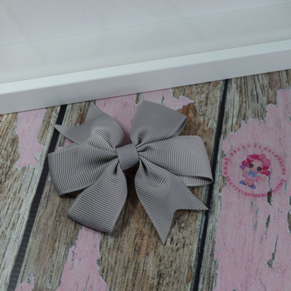 Double Loop Pinwheels - Silver ~ On Croc Clip