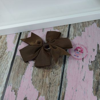 Double Loop Pinwheels - Turftan Brown ~ On Croc Clip