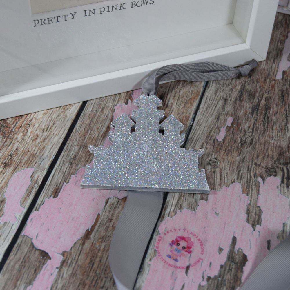 Silver Glitter Castle Starter Bow Holder