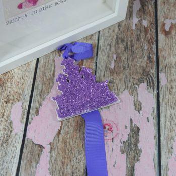 Purple Glitter Castle Starter Bow Holder