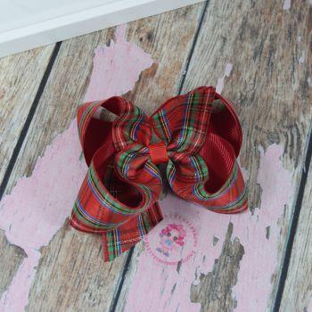 """4.5"""" Tartan boutique bow"""