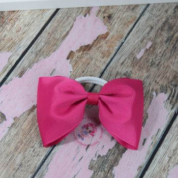 Large minnie bow - Azalea pink  on bobble