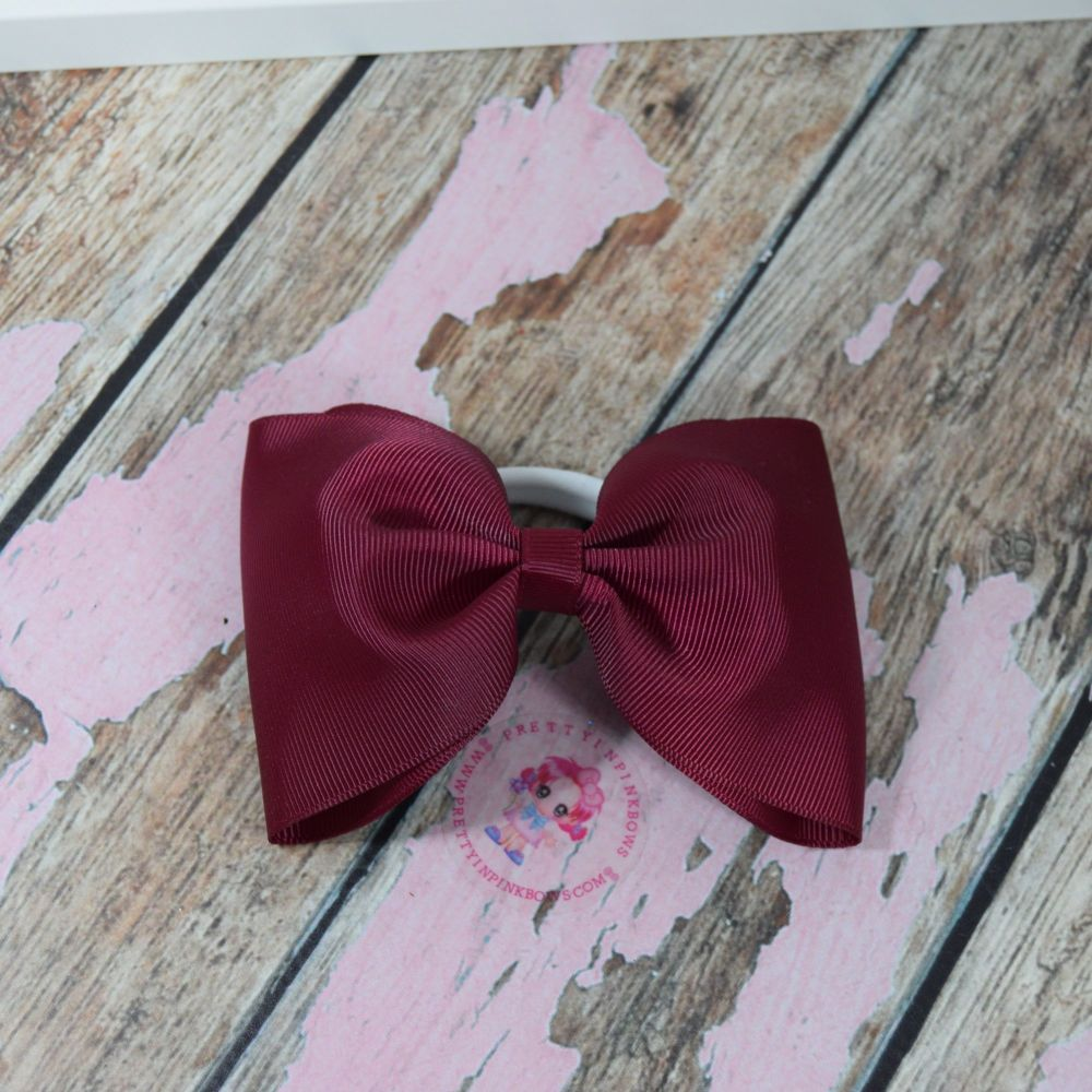 Large minnie bow - Wine red  on bobble