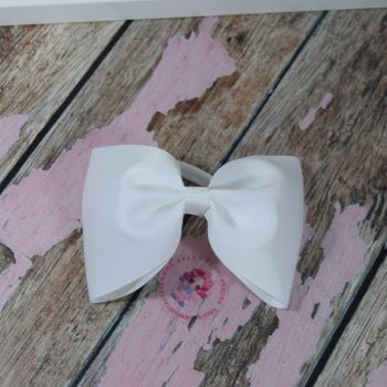 Large minnie bow - White  on bobble