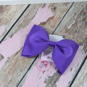 sale - large minnie bow on bobble purple