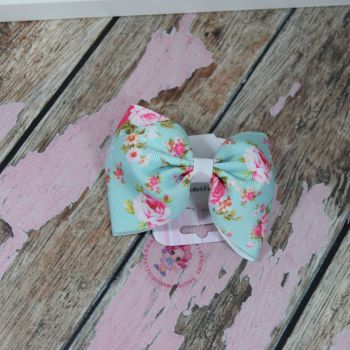 sale - large minnie bow on bobble floral