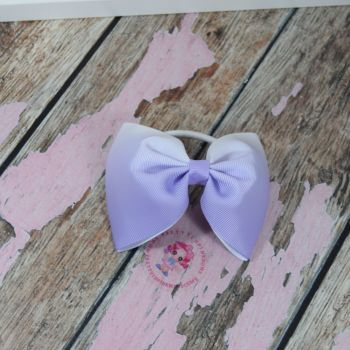 sale - large minnie bow on bobble purple ombre