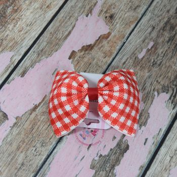 sale - large minnie bow on bobble red gingham