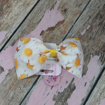 sale - large minnie bow on bobble floral daisy