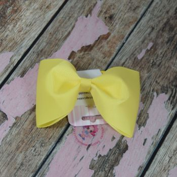 sale - large minnie bow on bobble yellow