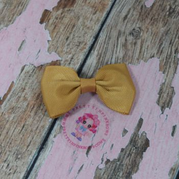 Minnie Bow On Croc Clip ~ Pale Gold