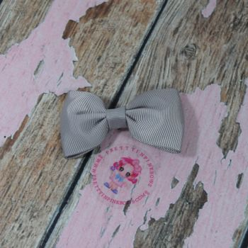 Minnie Bow On Croc Clip ~ Silver
