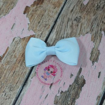 Minnie Bow On Croc Clip ~ Light Blue