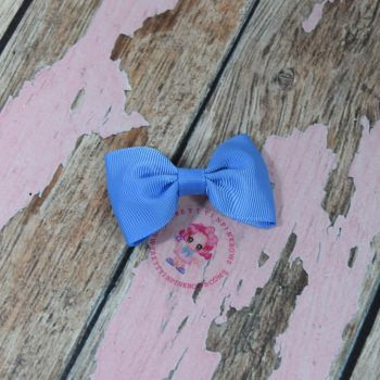 Minnie Bow On Croc Clip ~ Capri Blue