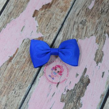 Minnie Bow On Croc Clip ~ Royal Blue