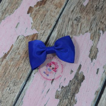Minnie Bow On Croc Clip ~ Electric Blue