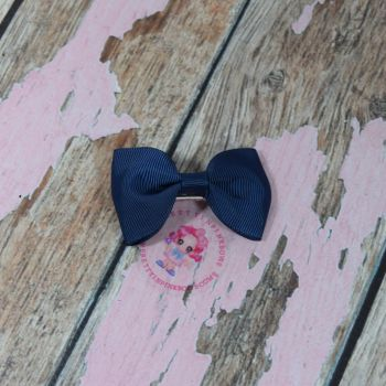 Minnie Bow On Croc Clip ~ Navy