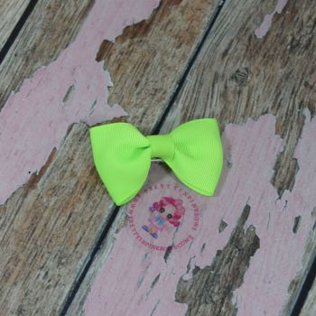 Minnie Bow On Croc Clip ~ Key Lime