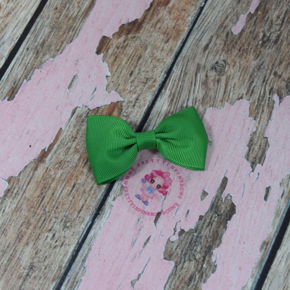 Minnie Bow On Croc Clip ~ Classic Green