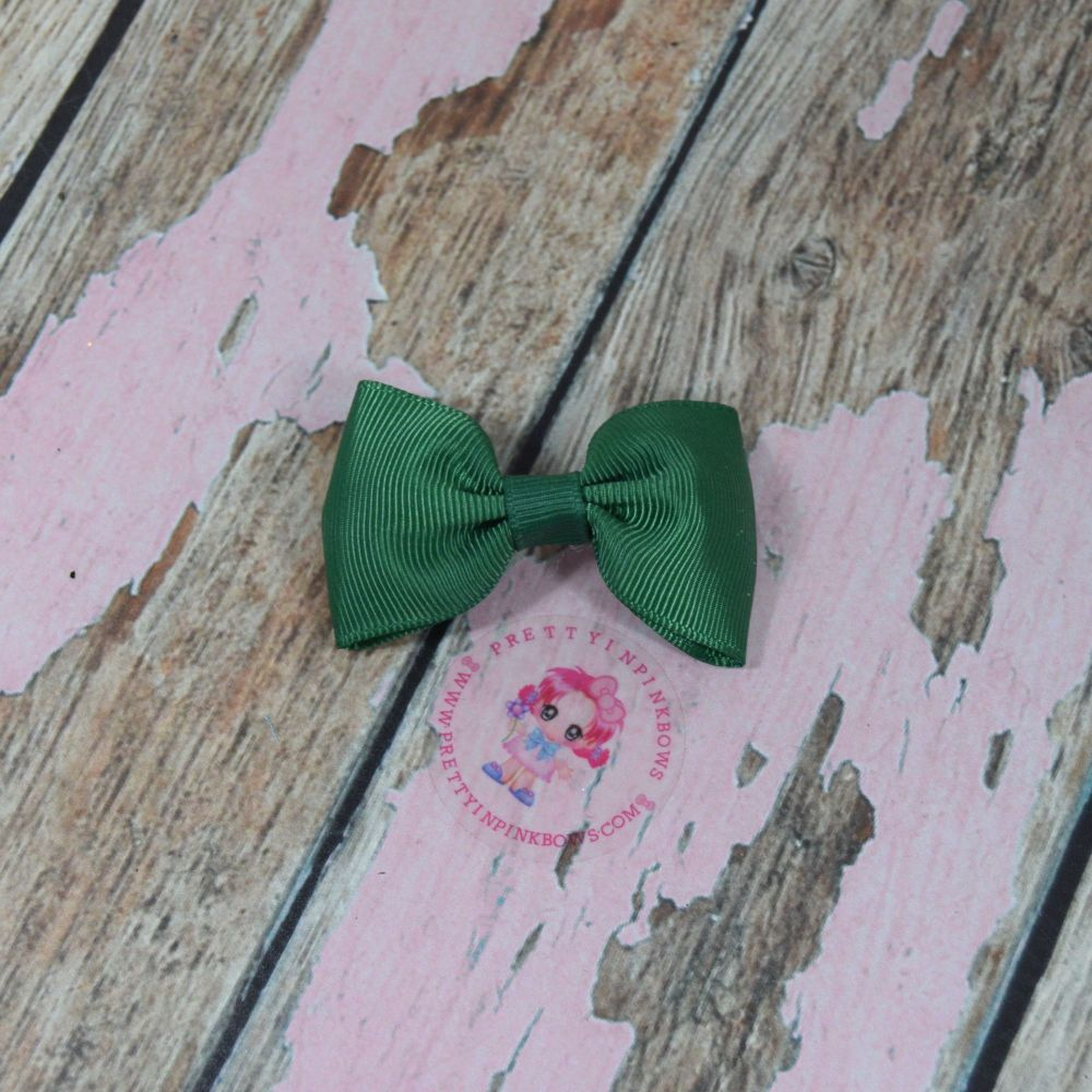 Minnie Bow On Croc Clip ~ Forrest Green
