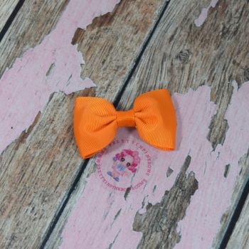 Minnie Bow On Croc Clip ~ Tangerine