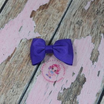 Minnie Bow On Croc Clip ~ Regal Purple