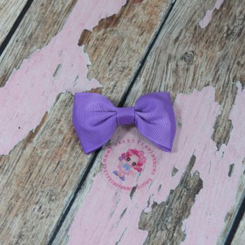 Minnie Bow On Croc Clip ~ Grape Purple