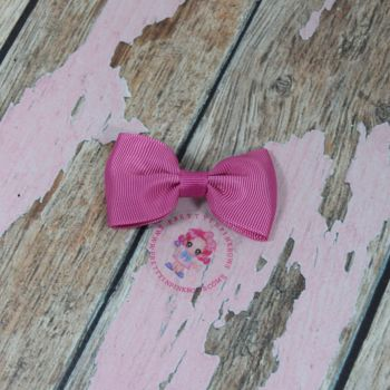 Minnie Bow On Croc Clip ~ Garden Rose