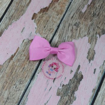 Minnie Bow On Croc Clip ~ Rose Bloom