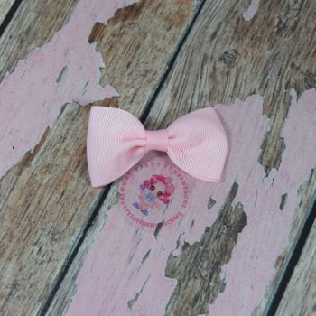Minnie Bow On Croc Clip ~ Light Pink