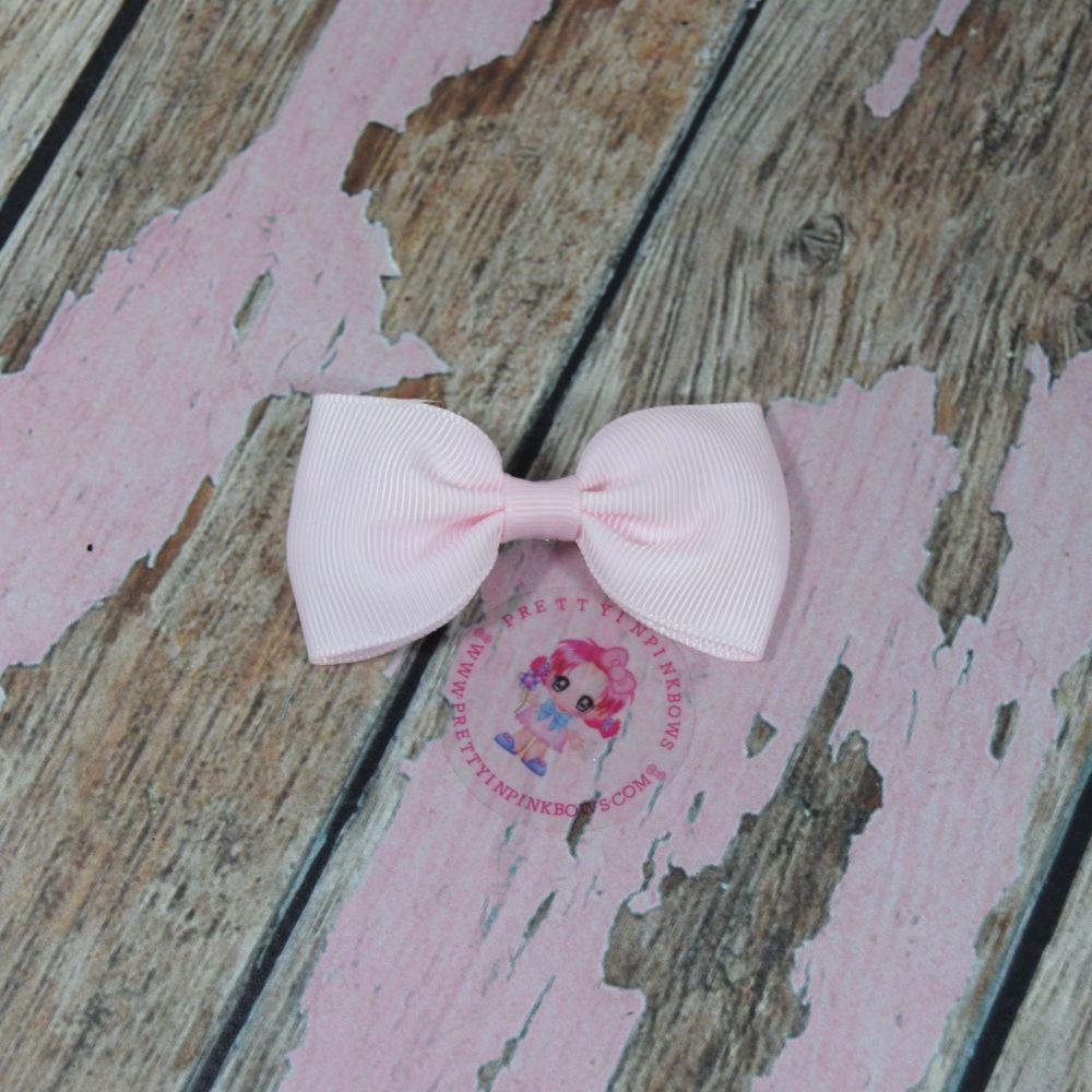 Minnie Bow On Croc Clip ~ Powder Pink
