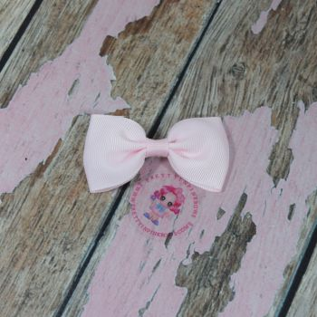 Minnie Bow On Croc Clip ~ Powder Pink