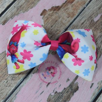 Large Minnie Bow On Croc Clip ~ Princess Poppy