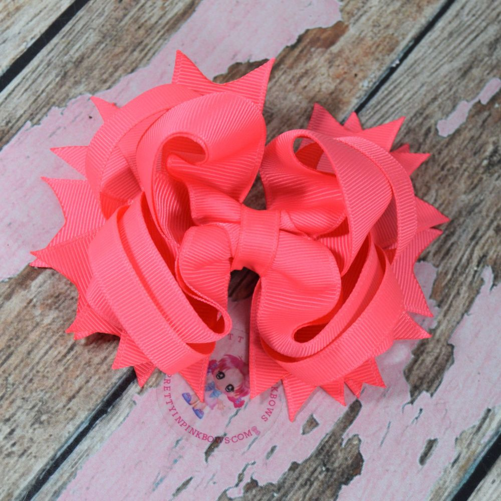 "4.5"" Plain Princess Bow ~ Passion Fruit"