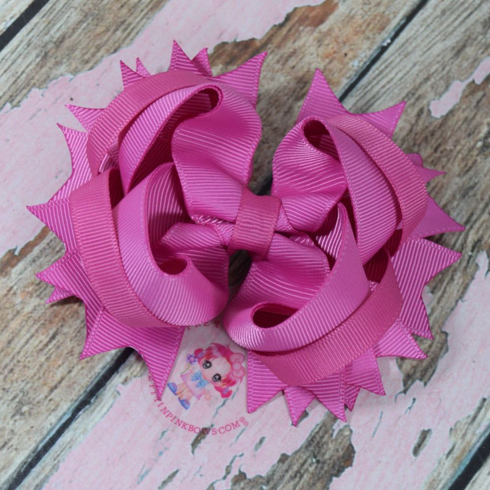 "4.5"" Plain Princess Bow ~ Garden Rose"